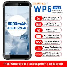 <b>OUKITEL WP5 4G</b> 8000mAh Battery IP68 & IP69 Waterproof 3 Rear ...
