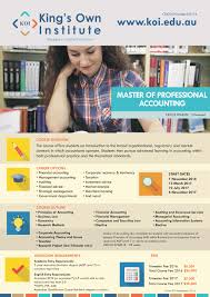 koi course flyers master of professional accounting