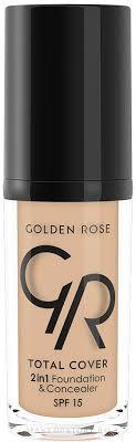 Golden Rose Total <b>Cover</b> 2in1 Foundation & Concealer ...