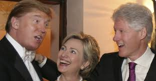 Image result for Photos of trump and clinton