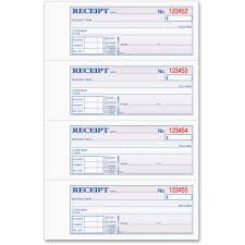 tops 46808 money rent receipt book 3 part carbonless copy 7 25 view large image view huge image