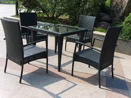 cool black wicker patio furniture canada black outdoor balcony furniture