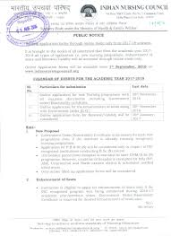 tamil nadu nurses midwives council inc circular for commencement of academic session for all nursing programs