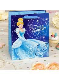 """<b>Пакет подарочный</b> """"C днем рожденья"""" <b>Принцесса</b>: Золушка 31 ..."""