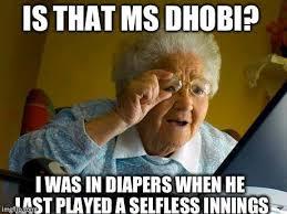 Funny Trolls, Memes & Emotional Reactions on MS Dhoni via Relatably.com