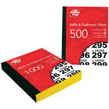 pukka pad raffle ticket book pack package each pukka pad raffle ticket book 1 1000 6 pack package 6 each