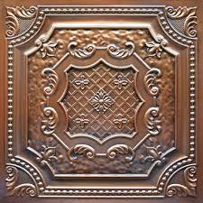 sagging tin ceiling tiles bathroom: dct  antique copper faux tin ceiling tile