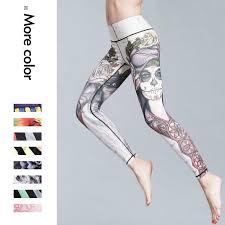 Новые <b>спорт Фитнес</b>-йога Брюки Печать йога женщин <b>высокий</b> ...