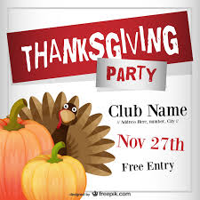 thanksgiving flyers psd word templates demplates thanksgiving club flyer template