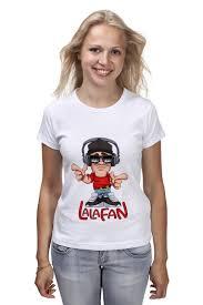 <b>Футболка классическая Printio LalaFan</b> DJ T-Shirt (белая, жен ...
