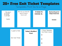 math love exit ticket templates each day i ll be able to pull out a prepared stack of exit tickets that match what i m hoping to learn from my students that day