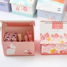 <b>Hot 1pcs</b> Storage Box <b>Creative</b> Folding House Desk Calendar 2020 ...