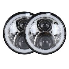 7 inch led headlight for harley|jeep led headlight with halo rings ...