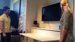 horizontal wall bed with desk hidden table youtube ikea bedroom sets master bedroom ideas beautiful murphy bed desk