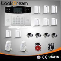 gsm home security wireless smart alarm system sos burglar fire and gas with pir sensor door window