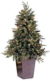 gki bethlehem lighting pre lit 5 foot pepvc christmas tree in square metal pot with 150 clear mini green river spruce buy gki bethlehem lighting