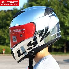 <b>LS2 FF390</b> Breaker Split Motorcycle Helmet Inner Shield Chrome ...