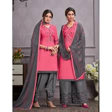 Siya Fashion <b>Light Pink Color Daily</b> Wear Embroidered Work Salwar ...