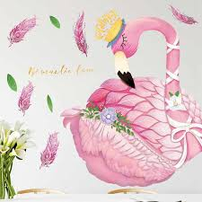 The <b>Flamingo Queen</b> Wall Stickers for Living room Bedroom Kids ...