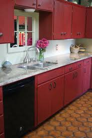 Red Tile Paint For Kitchens 17 Best Ideas About Red Kitchen Cabinets On Pinterest Red