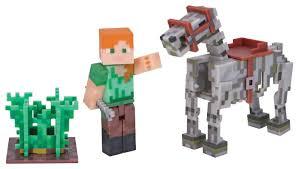 <b>Игровой набор</b> Jazwares <b>Minecraft</b> Алекс с лошадью-скелетом ...