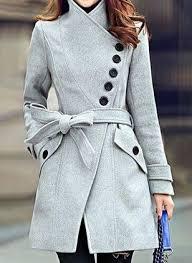 <b>Пальто</b> Высокий вырез с длинными рукавами с <b>поясом</b> с ...