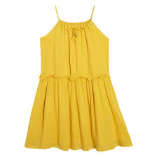 <b>Платье</b> с тонкими бретелями, 3-12 лет желтый <b>La Redoute</b> ...