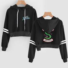 <b>2019 2019 Riverdale</b> Crop <b>Hoodies Sweatshirts</b> Harajuku Cropped ...