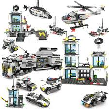 City Police Building Blocks Sets SWAT Helicopter Car Playmobil ...
