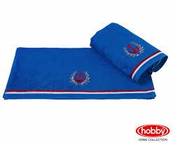 """Махровое <b>полотенце</b> с <b>вышивкой 70х140</b> """"MARITIM"""", синее, 100 ..."""