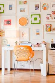 colorful home office design ideas home office with bright orange accents with colorful wall interior bright colorful home