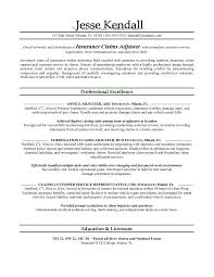 example claims adjuster resume   free sample