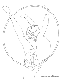 Gymnastics Coloring Sheets Gymnastics Coloring Pages Hoop Individual All Around Rythmic