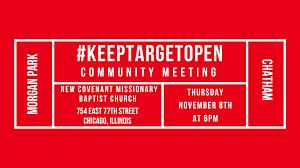 <b>Rush</b> to <b>Hold</b> #KeepTargetOpen Community Meeting ...