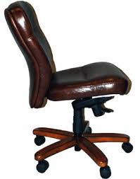 brown leather armless desk chair brown leather office chairs
