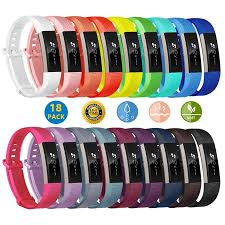 18 Pack for Fitbit Alta/AltaHR Wrist <b>Band</b>, <b>Silicone Replacement</b> ...