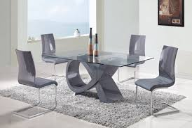 Glass Top Pedestal Dining Room Tables Buy Extendable High Gloss White Dining Table With Black Or Grey