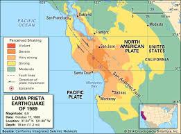 San Francisco Oakland earthquake    Kids Encyclopedia     Kids Britannica Map Still Map of the      San Francisco   Oakland earthquake  also known