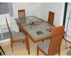 expandle glass dining table