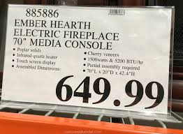ember hearth electric media fireplace costco weekender deal for the ember hearth electric media fireplace at costco