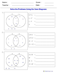 venn diagram math problems
