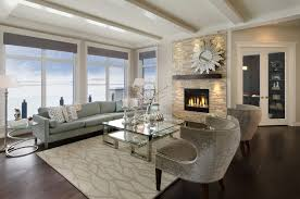 the savannah showhome calgary alberta example of a trendy living room design in calgary with a blue dark trendy living room