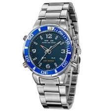 <b>Weide Blue</b> dial chronograph alarm sport army watch 8433c ...