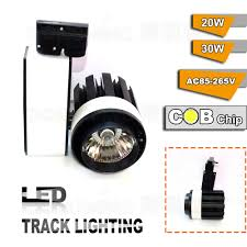 wholesale ac85v265v 20w cob led track light pendant track light high bright rail track light jewelry showcase lighting art track lighting