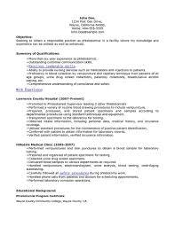 phlebotomy resume sample and tipsentry level phlebotomy resume phlebotomy resume sample resume writter