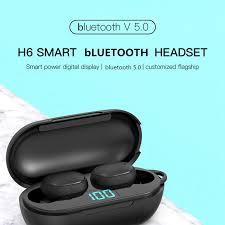 <b>H6</b> Smart TWS <b>Wireless bluetooth</b> Earphone Digital Display HiFi ...