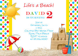 beach party invitation template com beach birthday invitation templates wedding invitation sample
