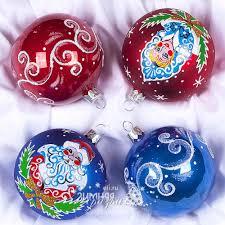 <b>Набор</b> стеклянных елочных <b>шаров Новогодняя Сказка</b> 4*75 мм ...