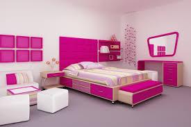 girls room playful bedroom furniture kids: modern kids bedroom design with bright pink and white furniture
