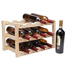 Buy Pinkdose® Creative Foldable Shelf <b>Wine Racks Wooden</b> ...